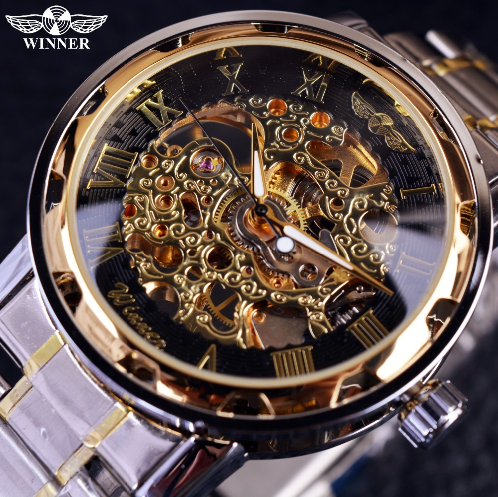 Transparent Gold Watch Men Watches Top Brand Luxury Relogio Male Clock Men Casual Watch Montre Homme Mechanical Skeleton Watch(China (Mainland))