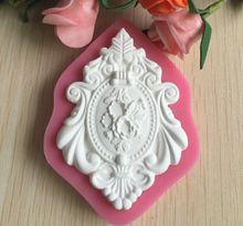 Beautiful Vintage Frame Shape 3D Silicone Cake Mold For Cake Decorating   C503(China (Mainland))