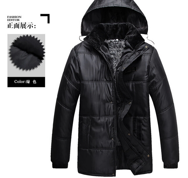 Menswear 2014 Autumn and winter man's jacket coat Male Thickening Overcoat Cotton-padded clothes(China (Mainland))