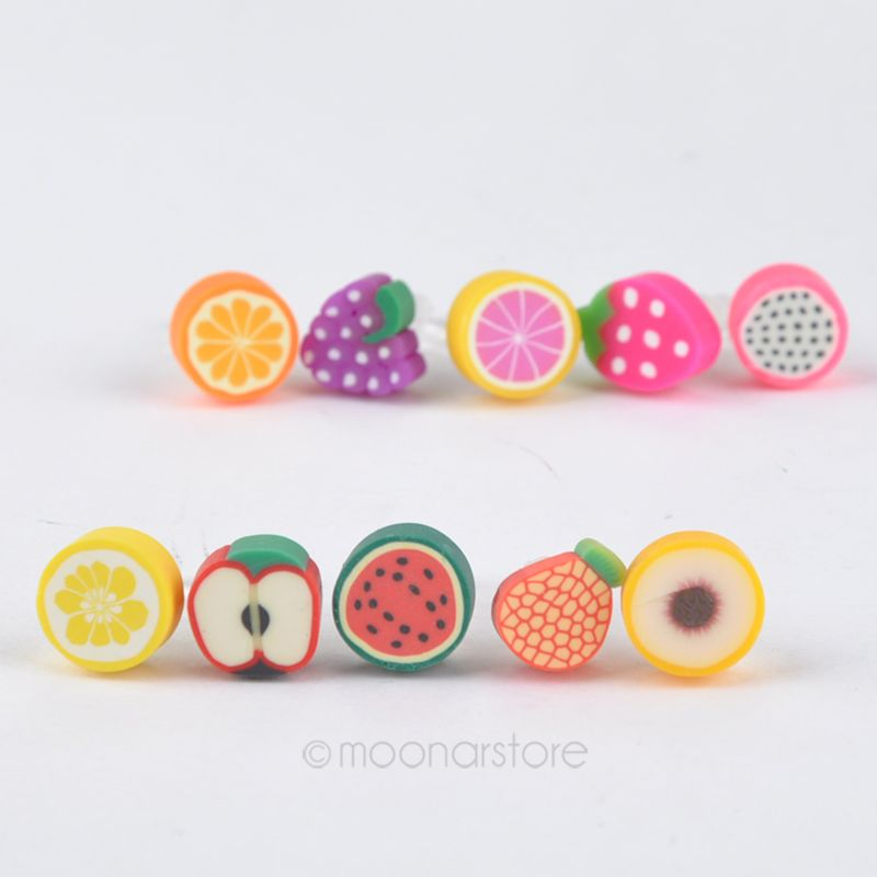 Fruit Charm 3.5mm Anti Dust Earphone Jack Plug Stopper Cap for iPhone/ Mobile phone XCA1130#S3(China (Mainland))