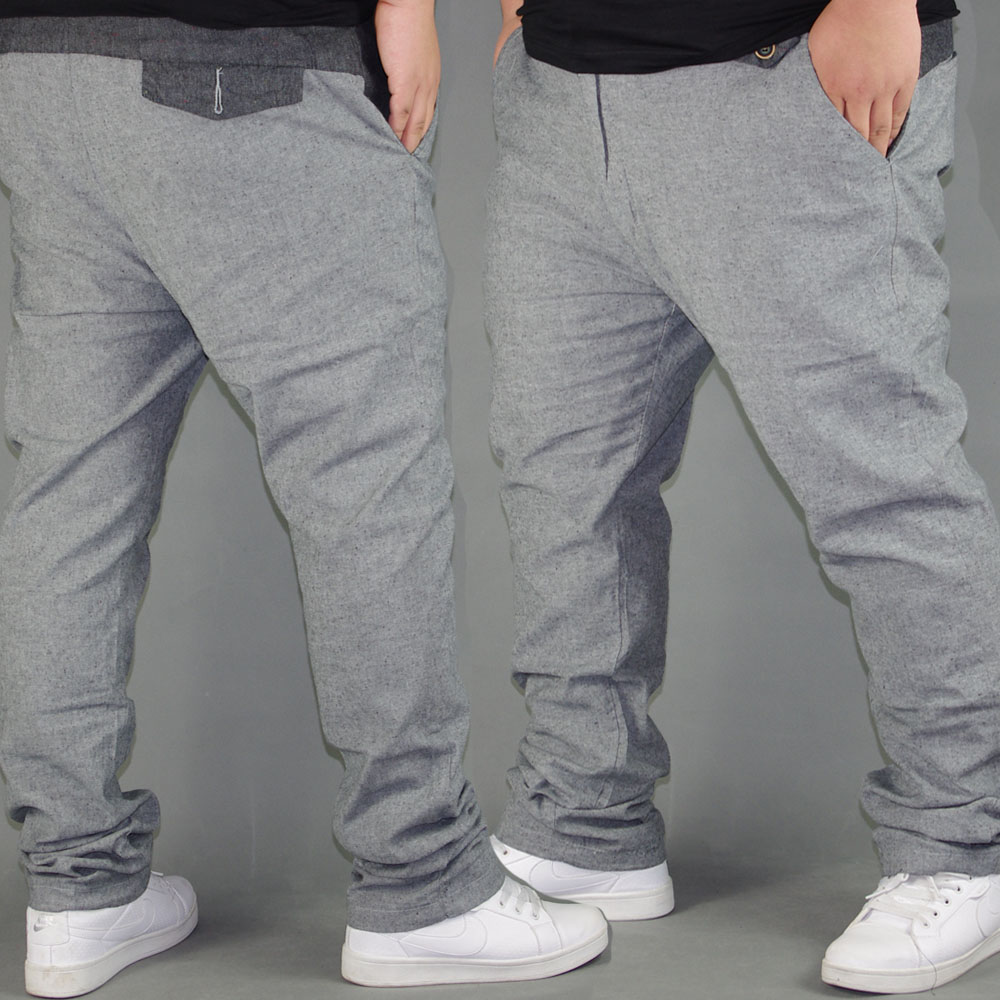 2015 new arrival mens casual linen pants male high quality waist trousers plus size 37 38 39 40 41 42 43(China (Mainland))