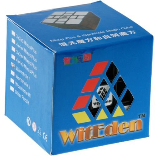 WitEden Mixup Plus 3x3x4 Magic Cube Black Body Difficulty 9 of 10 Hot Selling Educational Twisty Puzzle Toy for Children(China (Mainland))