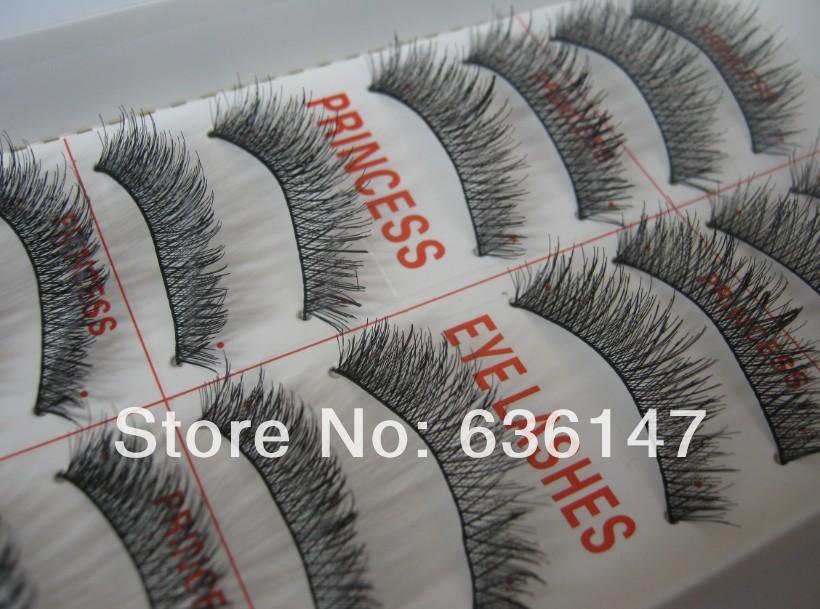 (Minimum order $ 5) 10 pairs/pack Princess lee false eyelashes cross dense m18 lips lengthen natural nude False eyelashes(China (Mainland))