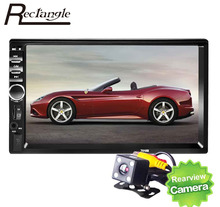 7 inch 2 Din Car Video Player 2Din Car MP4 MP5 Player Multimedia Player Touch Screen USB FM Bluetooth Support Rear View Camera(China (Mainland))