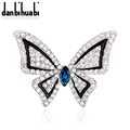 Very Low Prices  New fashion jewelry butterfly brooch crystal brooch jewelry zircon wedding party gifts