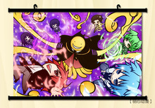 (60x85cm)Assassination Classroom Anime Canvas Wall Art Picture Home Decor Room Print Painting Cartoon Canvas Art