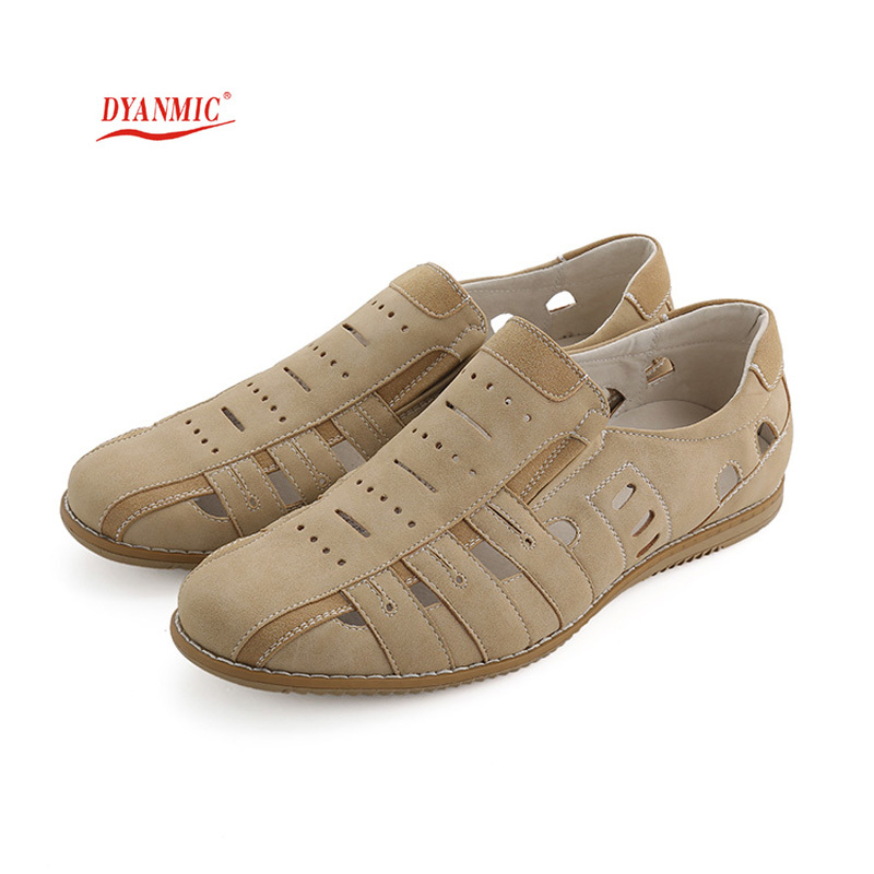 DYANMIC Original Designer Men's Sandals Summer New Men Breathable Cut-Out Beach Shoes With Cow Muscle Bottom Factory Price(China (Mainland))