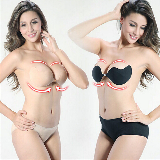 Women Sexy Push Up Front Closure Invisible Bra Seamless Strapless Bra