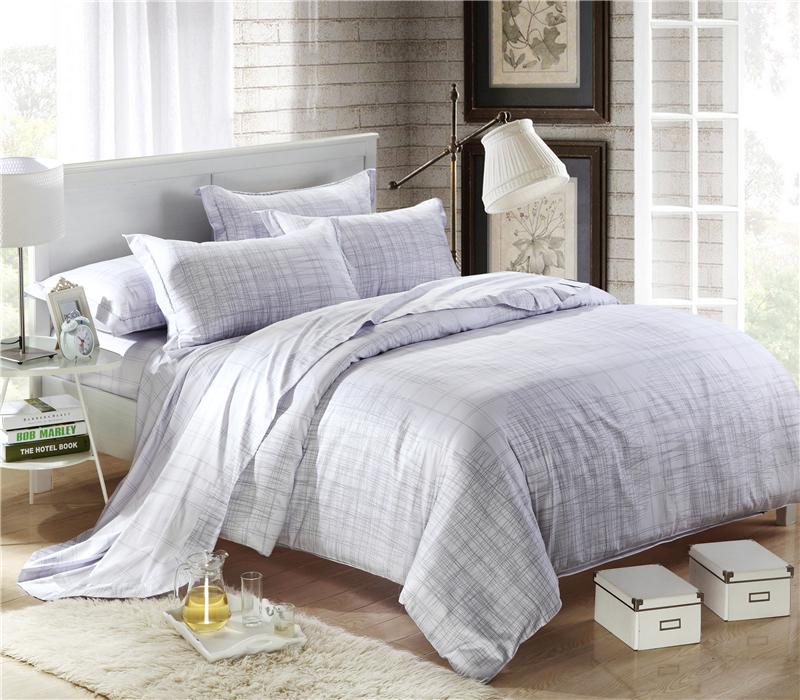 Big deal modern brief 4pcs 100 cotton queen king size comforter bedding set white quilt cover