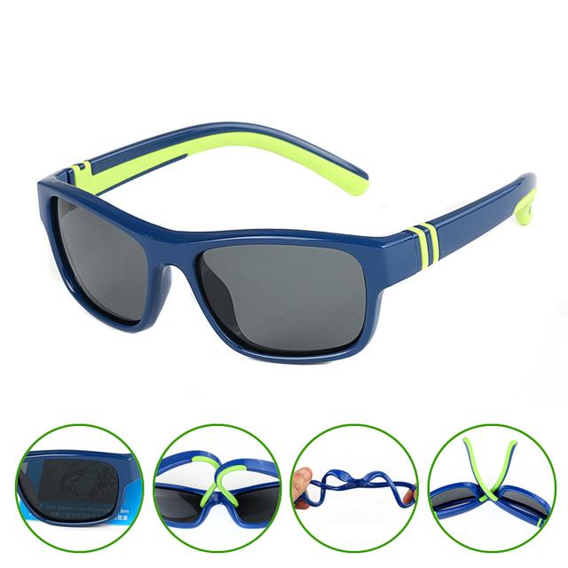 POLARSNOW Дети Мальчики Девочки Солнцезащитные очки 2016 Новый TR90 Мягкий Верх Качество Детские Солнцезащитные Очки Детские Очки UV400 Очки