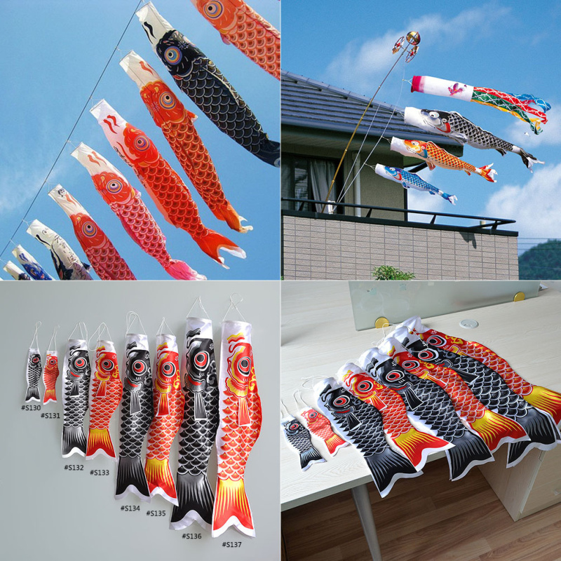 Japanese style colorful large koinobori japanese carp wind for Japanese koi windsock