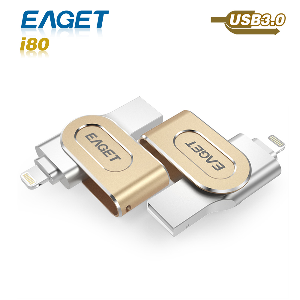 hot Eaget I80 pen drive 3.0 usb 3.0 MFI usb flash drive 32GB 64GB 128GB for iphone pendrive for ipad External Storage usb stick(China (Mainland))
