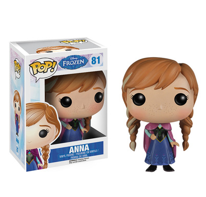 "New 4""10cm Cute Funko POP Anna pvc toy & action figure Princess Doll With Box toy for children Girl birthday gift(China (Mainland))"