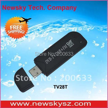 Hot Selling! Mini DVB-T Digital TV USB Dongle Stick TV28T Support FM&DAB&SDR With RTL2832 R820T Chipset Hongkong Post Shipping