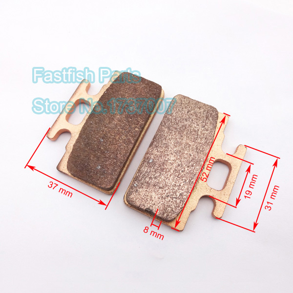 Copper Heavy Duty Disc Brake Pads Shoes For 50cc-90cc 110cc 125cc ATV Pit Dirt Pit Bikes Moped Motorcycle(China (Mainland))