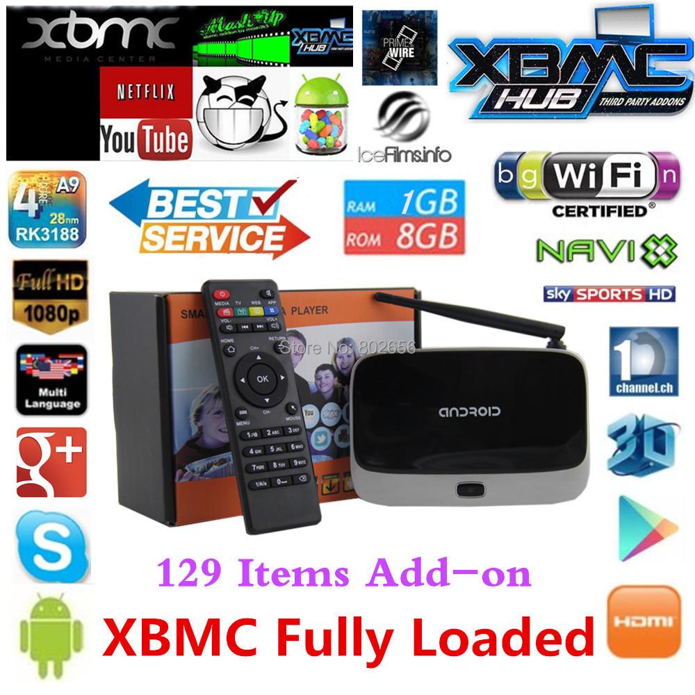 Crazy Discount! Android TV Box XBMC Fully Load CS918 mk888 Smart tv box Full HD Media Player 1GB/8GB RK3188 Quad Core Bluetooth(China (Mainland))