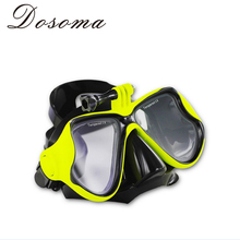 Tempered Glass Lens Diving And Snorkeling Glasses Swimming Eyewear Adjustable Soft Sea Diving Mask for  Hero 3/4(China (Mainland))