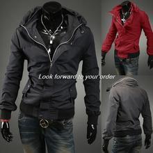 2014 Autumn Winter Warm Fashon New Casual Jackets Men Outerwear Hoodie Jacket Coat Zipper Slim Casual