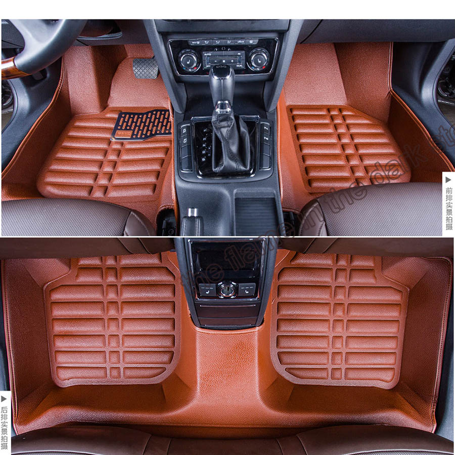 free shipping EU approval fiber leather car floor mat for skoda superb combi 2nd generation 2009 2010 2011 2012 2013 2014(China (Mainland))