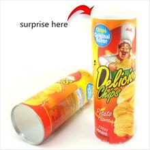 2016 21cm PVC new Canned potato chips Joke Gag Toy Surprise Gifts snake Prank Joke Toys for fool Halloween toys horror(China (Mainland))