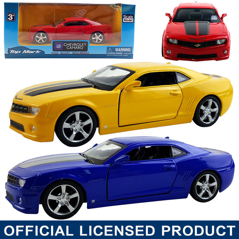 HOT SALE 1:38 Chevrolet Camaro Die Cast Model Car Kid Pull Back Friction Toy(China (Mainland))