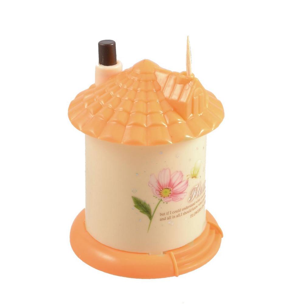 СЗС апельсинового дом форме автоматическая пластиковая Зубочистка держатель