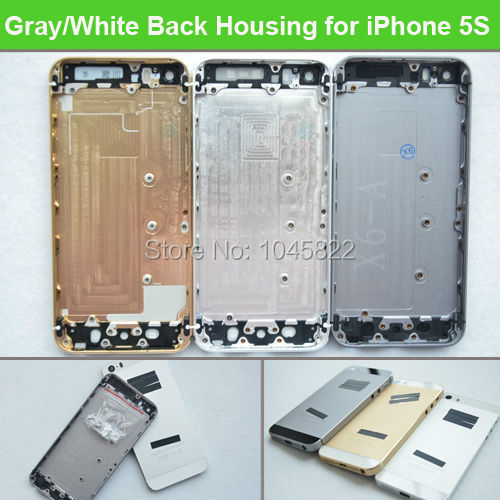 High Quality Space Gray/White/Gold Metal Housing Battery Door Back Cover + Middle Frame + Side Button For iPhone 5S & imei(China (Mainland))