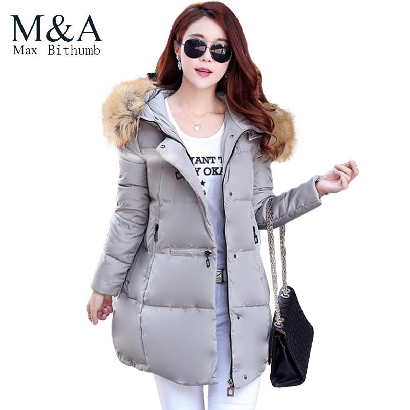 Women Winter Coat Female 2015 New Fur Hooded Thick Long Designer Fashion Down Parkas Cloak Outerwear Winter Jacket Women(China (Mainland))