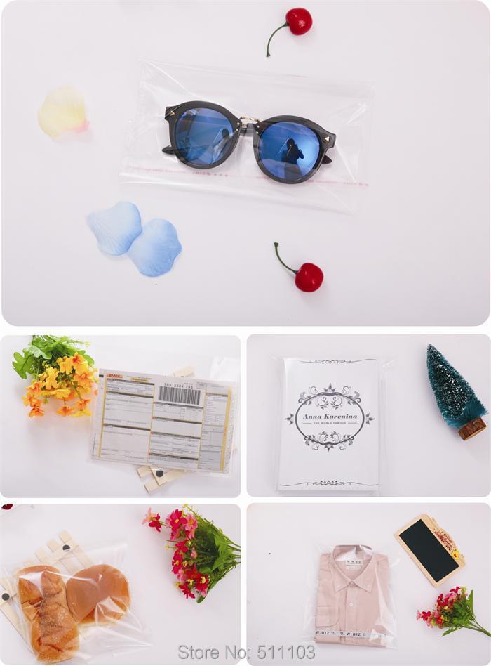 100pcs 40cm x 55cm Crystal Clear Poly Cellophane Bag 15.75 x 21.65 ...