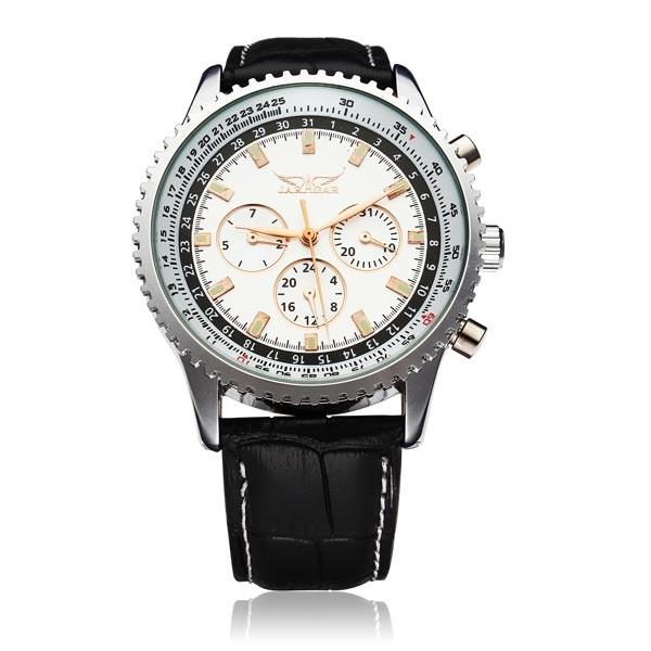 Jaragar бренд класса люкс автоматическая механическая мода кожа коммерческие мужские наручные часы мужские часы 2016 New