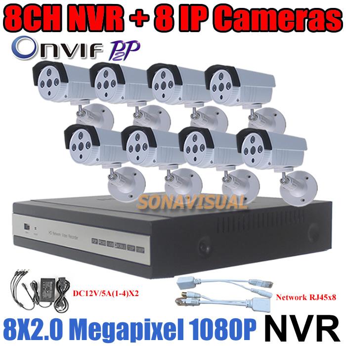 8CH NVR Kit Sony Exmor imx122 CMOS Full HD NVR Video Recorder P2P ONVIF + 2.0MP IP Camera 1080P Outdoor Night Vision Waterproof<br><br>Aliexpress