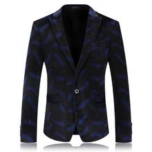Blue Velvet Blazer Mens Stage Wear Casual Jacket Men Blazer Designs Velvet Suit Men Slim Fit Party Dress Brand Clothing 4XL Q59(China (Mainland))