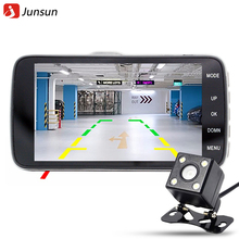 "Junsun 4.0"" Car DVR Camera Dual Lens with LDWS ADAS Rear view Support Front Car Distance warning Full HD 1080P car dvrs dashcam(China (Mainland))"