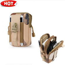 Outdoor Tactical Holster Military Molle Hip Waist Belt Bag Wallet Pouch Phone Case for  meizu pro 6 iPhone/LG/HTC/Zipper 510(China (Mainland))