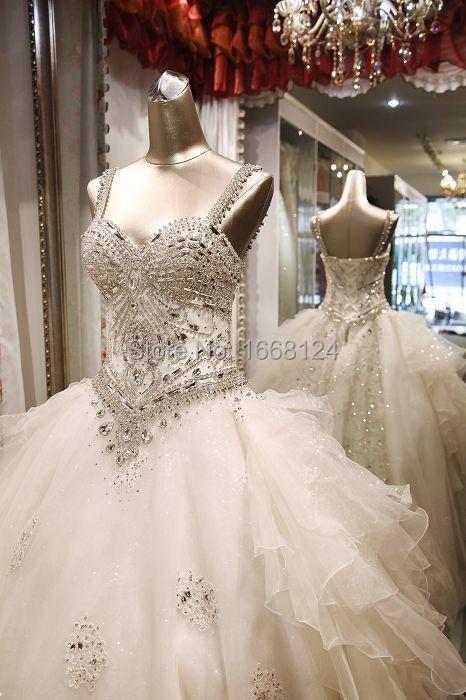 Buy real image crystal wedding dress ball Wedding dresses with crystal beading