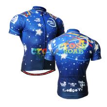 2016 mens Blue totem pattern short Sleeve Cycling Jersey quick dry Biking Clothing anti-sweat Rider Shirt Wear blue(China (Mainland))