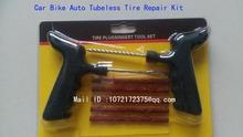 7pc tubeless Motorcycle tyre repair tool kit / Truck Tire Plug Repair Kit/ Car Bike Auto tubeless Tire Puncture Repair Kit(China (Mainland))