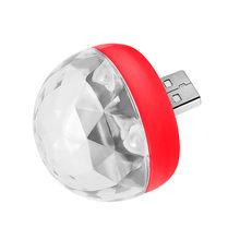 Mini LED portatif de partie de Disco de DJ d'usb allume la lampe magique d'étape d'effet de boule de cristal de RGBW(China)