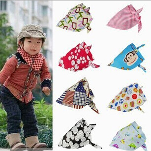 Free shipping Baby Bibs Girl Boy Saliva Towels Kids Bandana Newborn Triangle Head Scarf Infant Burp Cloth Toddler Scarves(China (Mainland))