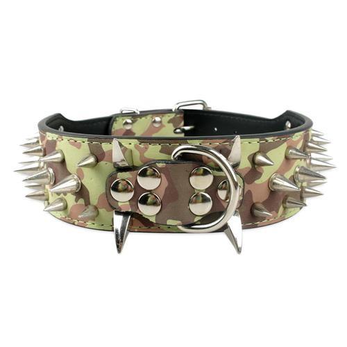 2inch-Wide-Cool-Sharp-Spiked-Studded-Leather-Dog-Collars-15-24-For-Medium-Large-Breeds-Pitbull (3)