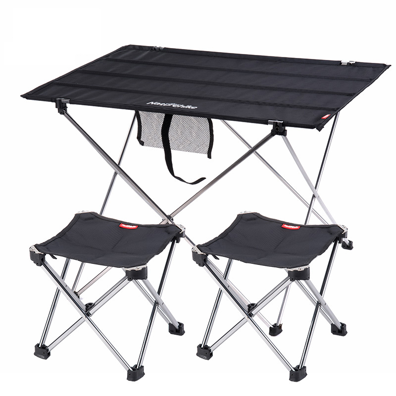 Point break outdoor folding tables and chairs combination for Small black table and chairs