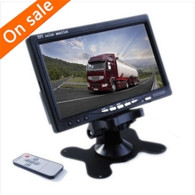 """7"""" TFT Color LCD Headrest Car Parking Rear View Reverse Monitor With 2 Video Input 2 AV In For DVD VCD Reversing Camera(China (Mainland))"""