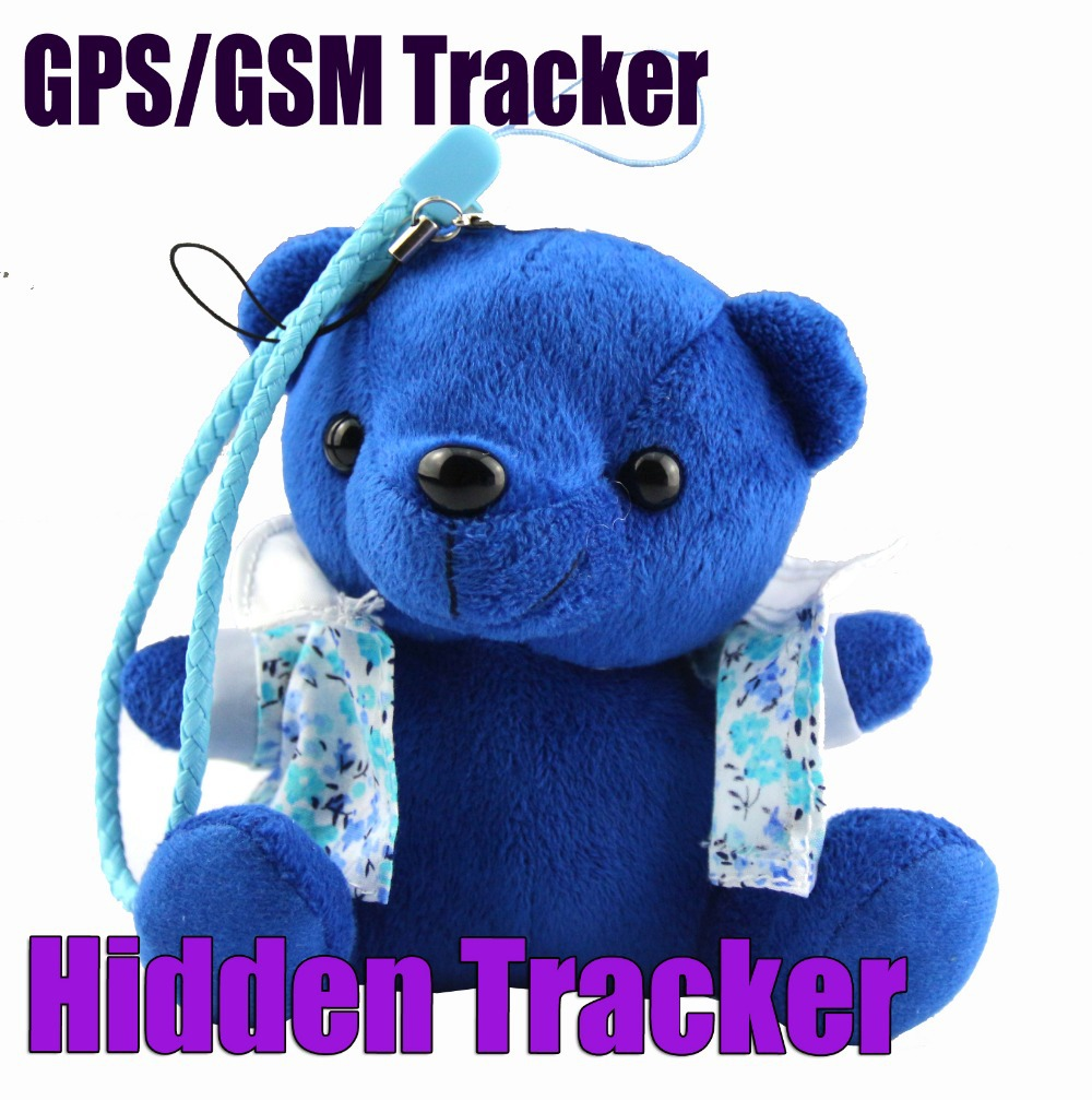 Hidden Plush Cartoon Toy Bear GPS/GSM/GPRS Personal Tracker - IDL100 kids plush toy key chain GPS Tracker(China (Mainland))