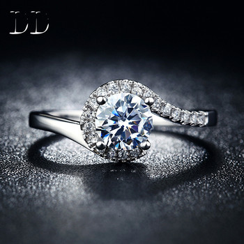 DD fashion jewelry ring wedding engagement ring for women white gold filled CZ diamond jewelry ring bijoux bague famale DD049