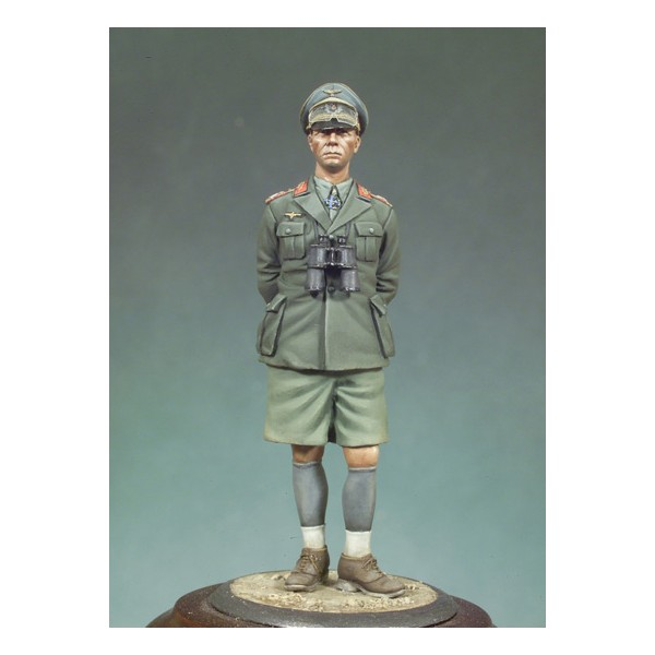 Unpainted Kit 1/32 54mm German general Erwin Rommel 54mm Historical WWII Figure Resin Kit Free Shipping(China (Mainland))