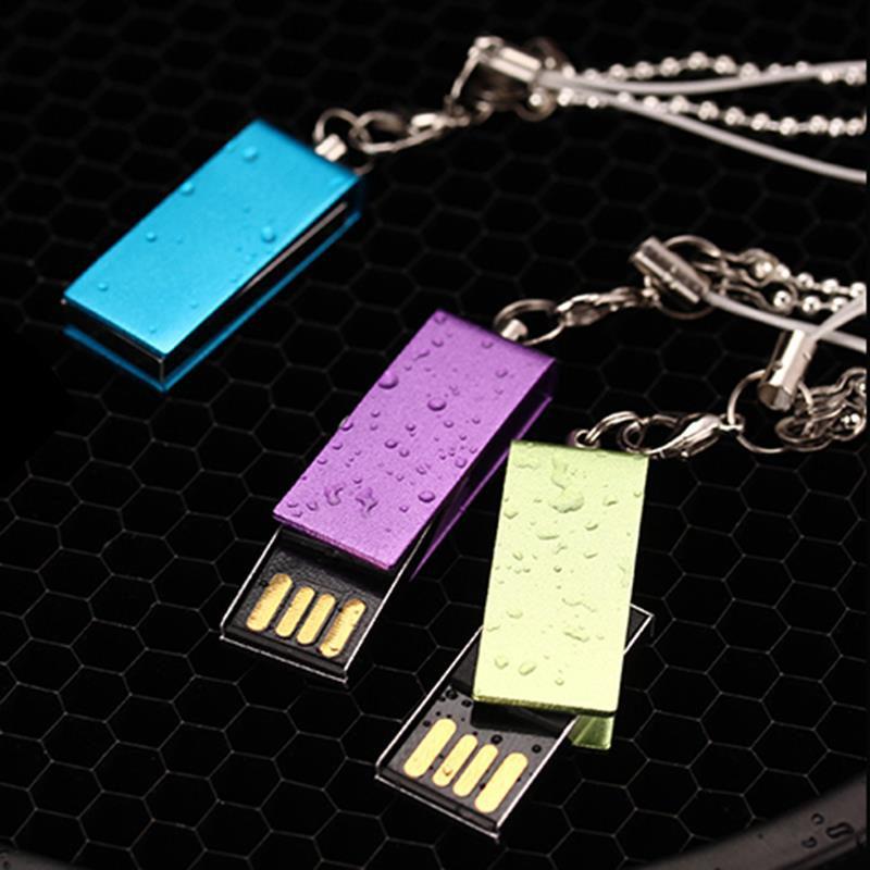 Mini Metal USB Flash Key Chain Pendrive High Speed Pendrive 16GB 32GB Real Capacity USB Stick 8GB Gift Flash Drive Free Shipping(China (Mainland))