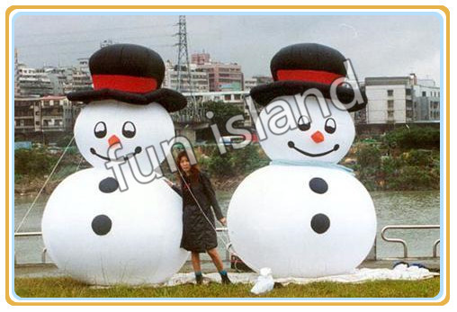 Giant inflatable snow man for advertising/decoration/promotion christmas decoration free shipping(China (Mainland))