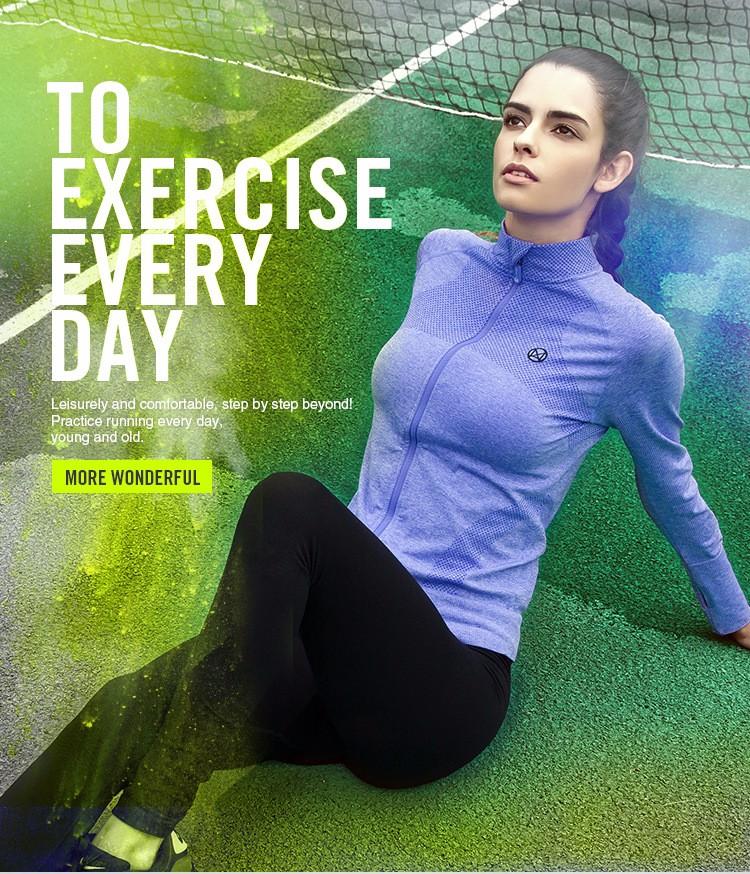 2016 Female Zip Sweatshirt Women Fashion Sports T-shirt Running Yoga Fitness Fast drying Girl Lady Fitness Clothing Workout (23)