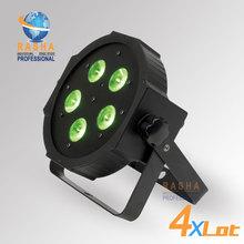4X LOT New Arrival ADJ 5*18W 6in1 RGBAW+UV Mega Quadpar Profile LED Par Light , DMX Par Can,American DJ Light For Event Party(China (Mainland))