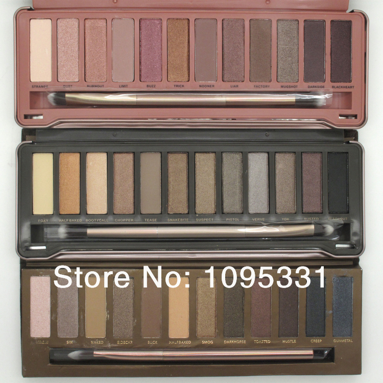 Гаджет  Drop Shipping ! 3pcs Nake 1 and 2 and 3 palette 12 Color Eyeshadow , NK 12 Colors Eye shadow with brush 12x1.3g ( 3 pcs /lot) None Красота и здоровье
